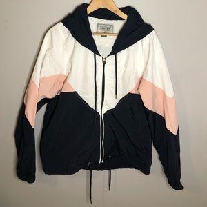 Pink Black and White Windbreaker Jacket